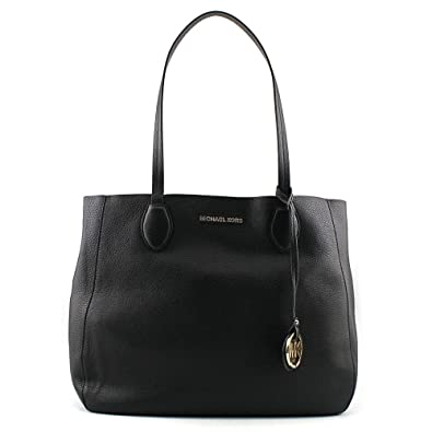 b02213c87669 Amazon.com: Michael Kors Womens Large Mae Soft Leather Carryall Leather  Shoulder Tote - Black/Pale Gold: Michael Kors: Shoes
