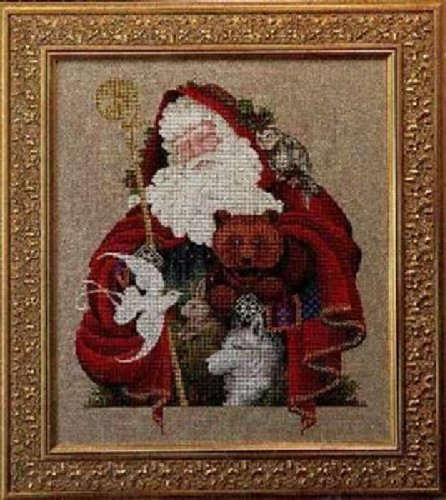 Lavender and Lace Santa of the Forest Cross Stitch Pattern Victorian Designs