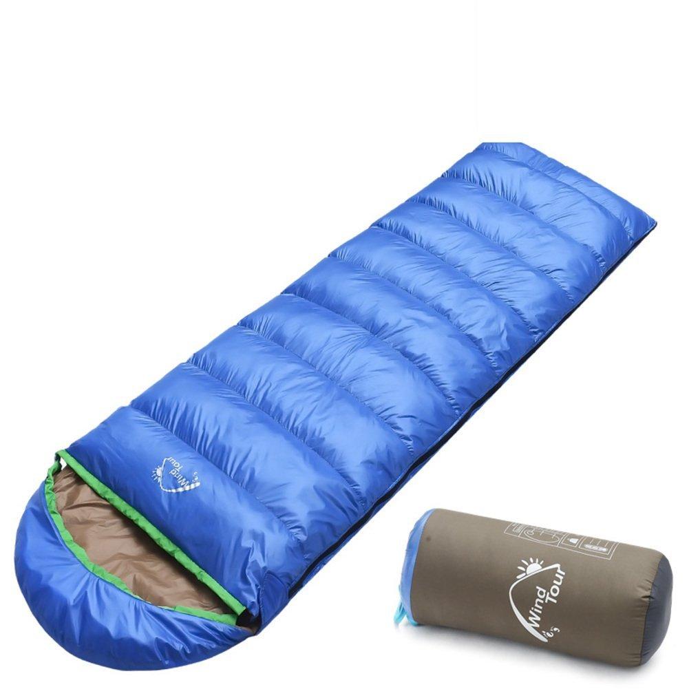 Herbst und Winter Daunenschlafsäcke/Umschlag mit Kapuze im Freien dicken warmen Schlafsack/Camping Schlafsack/Erwachsene Schlafsack