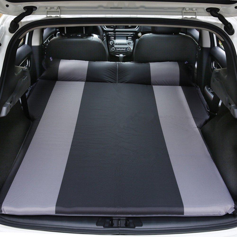 電気エアーポンプを含むインフレータブルマットレスダブルベッドポータブル肥厚車のベッド屋外の自転車ツアー B07F8YS52V  Black
