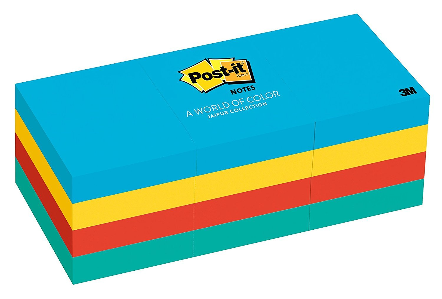 Post-it Notes, 1-1/2 x 2-Inches, Assorted Ultra Colors, 12-Pads/Pack, Case of 36 Packs (432 Pads)
