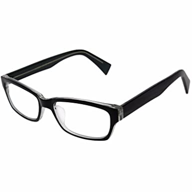 576851f0e2e Amazon.com  Black with Green Inner Vintage Black Men Women Myopia Glasses  Eyeglasses Frame Optical Rx Prescription  Clothing