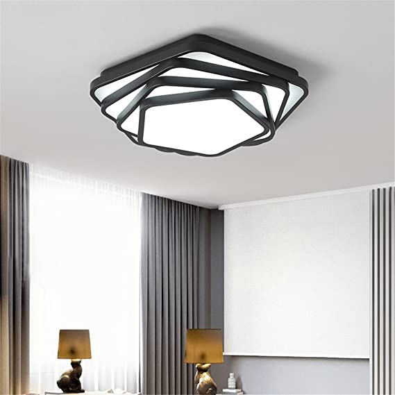 Weiss Schwarz Moderne Deckenleuchten Polygon Dez Lampen Deckenleuchte