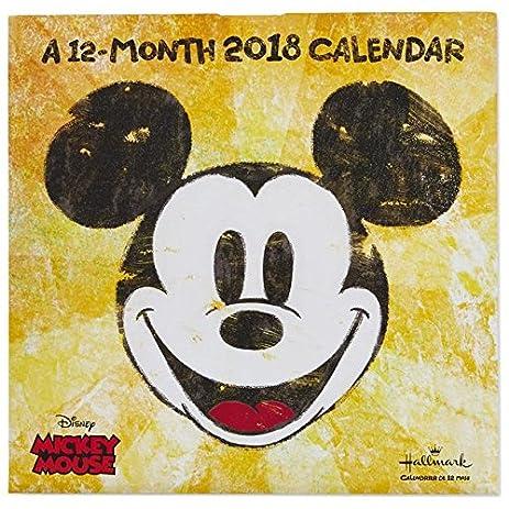 Amazon.com: Hallmark Pop Art Mickey Mouse 2018 Wall Calendar, 12 ...