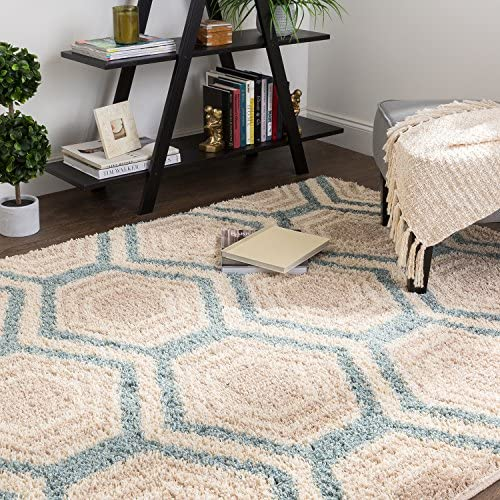 Mohawk Home Huxley Five Forks Woven Rug, 8 x10 , Bay Blue
