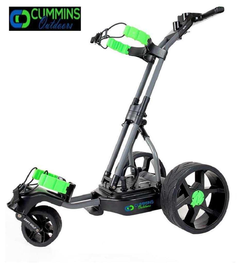 The Alligator 100 Waterproof Electric Remote-Control Golf Caddy, Industry Best 2-Year Warranty Innovative Modern Design, Light Weight, Compact Built to Last 36-Hole Removable Lithium Power Plant.