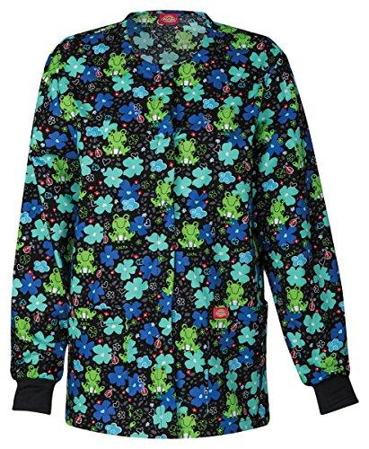 Everyday Scrubs Signature by Dickies Women's Round Neck Frog Print Scrub Jacket XXXXX-Large ()
