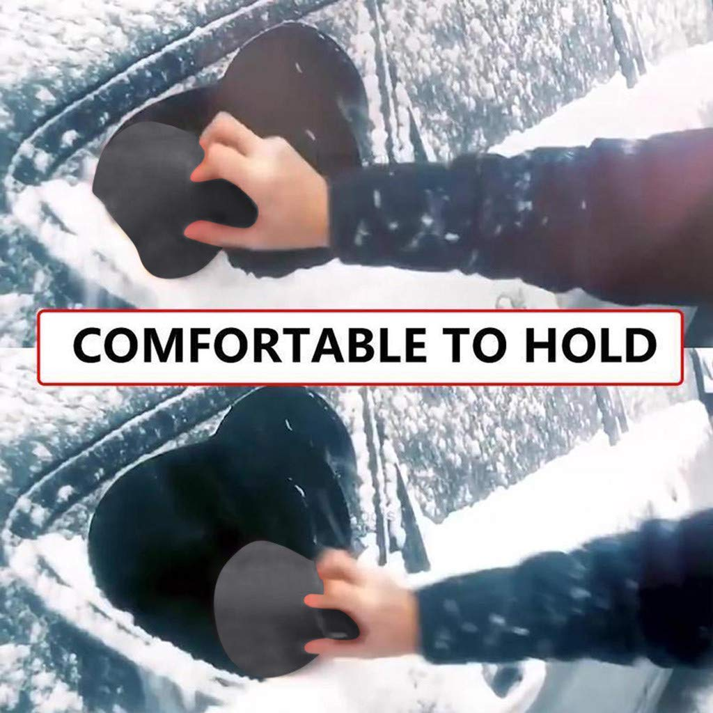 Ennglun A Round Ice Scraper,Car Windshield Snow Removal,Ice Scraper Snow Shovel Tool