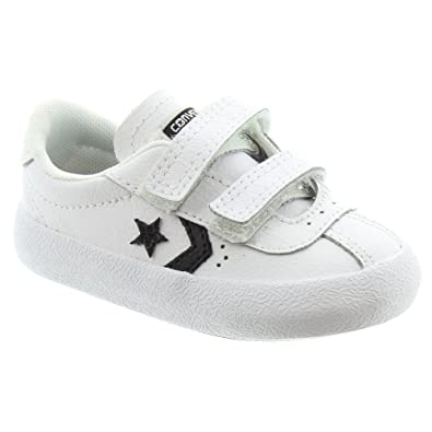 58df7fb89622a0 Converse - Kids Breakpoint 2V Velcro Shoes in White Leather  Amazon ...
