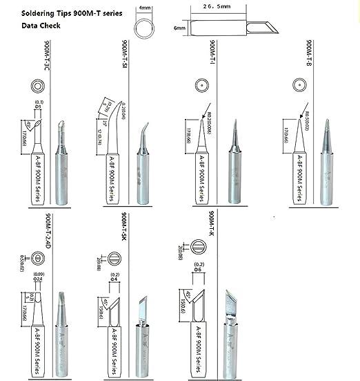 A-BF 10pcs 900M Soldering Iron Tips for Hakko, TENMA, Maplin, Toolcraft, on