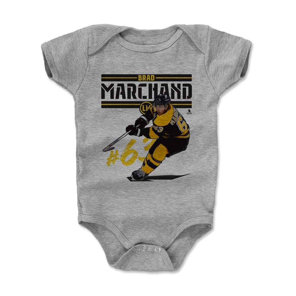 【コンビニ受取対応商品】 500レベルのBradのMarchand Infant & Months Baby – Onesieロンパース - – ボストンHockeyファンギアNHLの公式ライセンス選手Association – Brad Marchand再生K B01N0NBP62 ヘザーグレー 12 - 18 Months 12 - 18 Months ヘザーグレー, きぬずれ:1cbd3ffe --- svecha37.ru