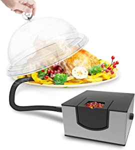 Kaven Smoking Gun Handheld Smoker Food Smoker for Meat, Veggies, BBQ, Sous Vide, Fruit, Cocktail,Cheese(Silver)