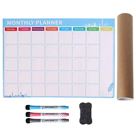 Guoyy Calendario Magnetico Mensual,A3 Pizarra Magnético para ...