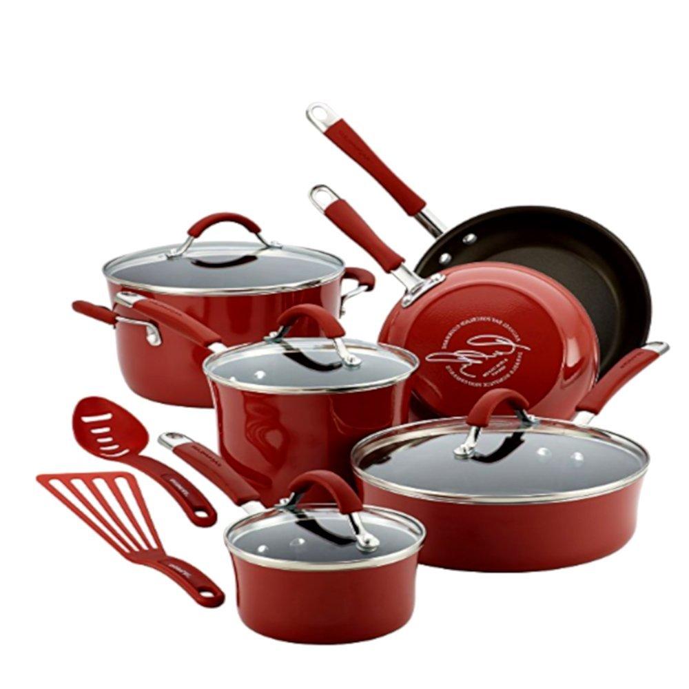 Amazon.com: Juego de utensilios de cocina de esmalte de ...