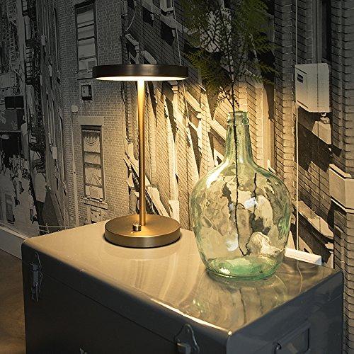 QAZQA Moderno Lámpara de mesa moderna bronce LED - DISCO ...