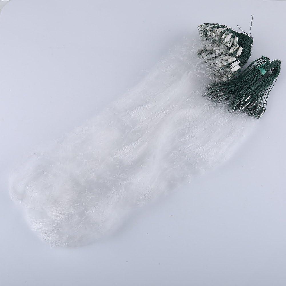 Angelfallen K/äfig Monofilament Small Mesh Gear KEENSO 1m x 20m Fischernetz mit schwimmender Fischfalle Ausr/üstung Nylon Fischernetz