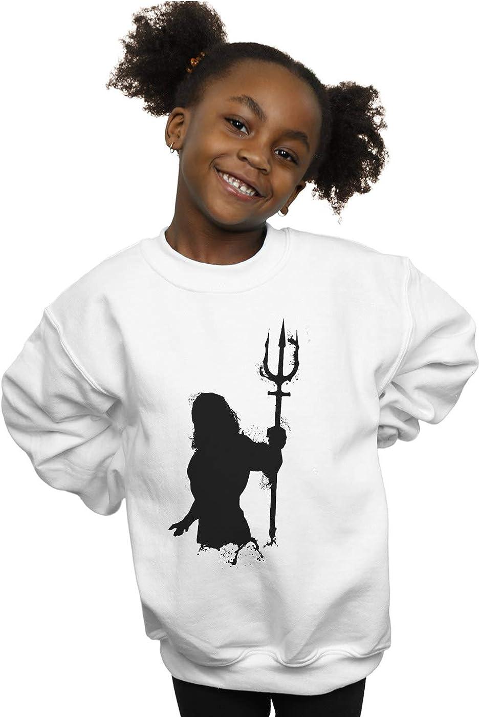 DC Comics Girls Aquaman Mono Silhouette Sweatshirt