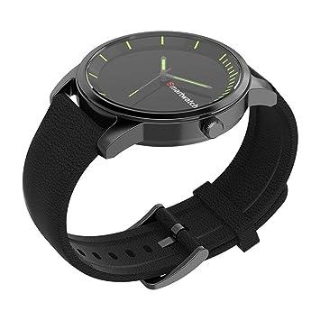 North King Montre à Quartz Sports étanche Grand Cadran Noir Noir Classique Band Smart Watch pour