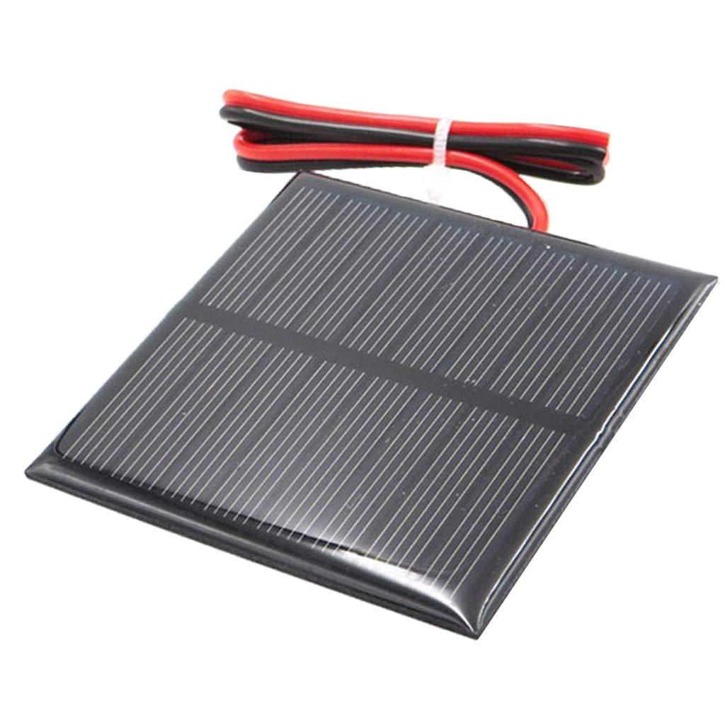 Fenteer Panneau Solaire Module Solaire pour DIY Chargeur de Batterie De Silicium Polycristallin Camping - Un 4V 55x55mm