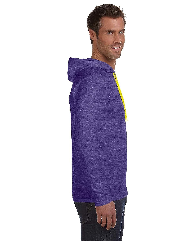 1c83180f8 Anvil Lightweight Long-Sleeve Hooded T-Shirt 987AN larger image