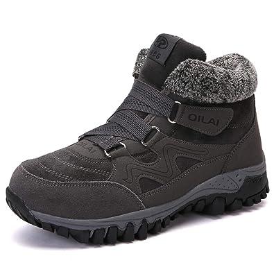 a2bdc48f4a0c1a ZOEASHLEY Damen Winterschuhe Boots Warm Gefüttert Winter Stiefel Trekking  Outdoor Schuhe mit Klettverschluss Gr.35