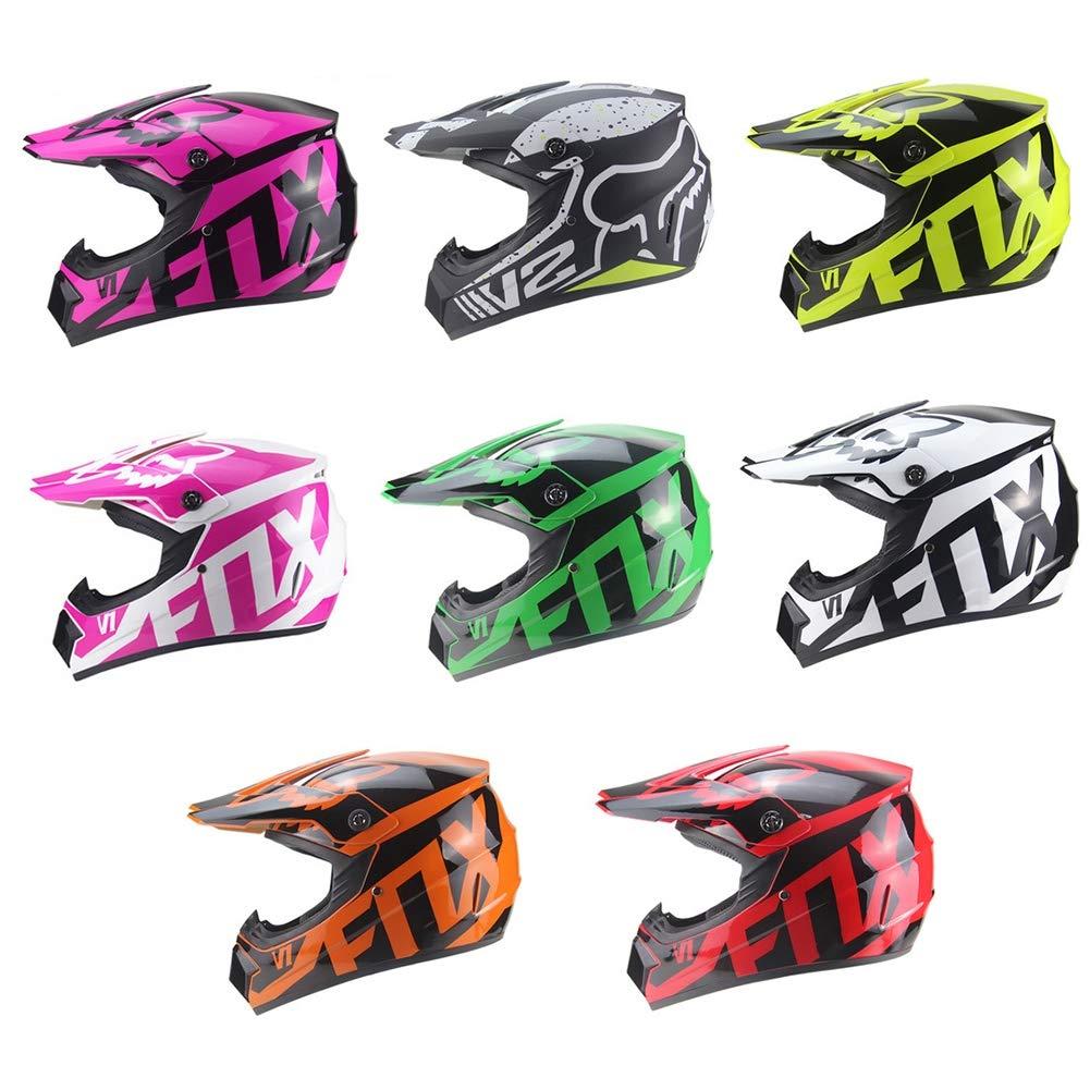 Gafas Guantes MOUTALE Casco Integral de Motocross para Motocicleta,Off Road Pro Ni/ños Adultos Casco de Motocross M/áscara,Quad ATV Casco Go-Kart Casco de Bicicleta de monta/ña,Certificado D.O.T