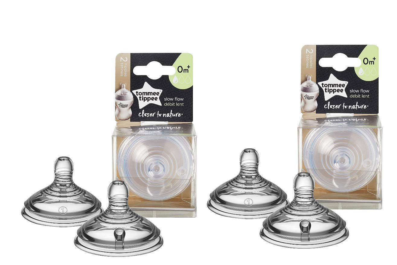 Tommee Tippee Closer to Nature Nipple, 4 Count, Slow Flow by Tommee Tippee