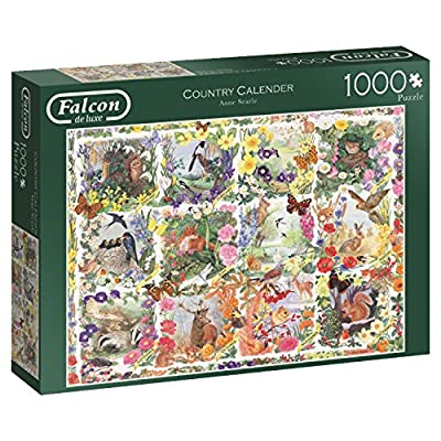 Jumbo Spiele 11190 Puzzle Falcon Country Calendar 1000 Pezzi