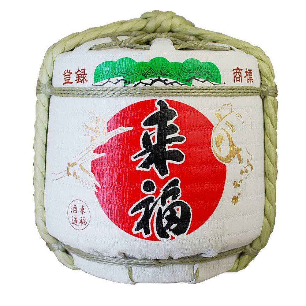 Replica Sake Barrel Raifuku(18L Size) Japanese Traditional Crafts.