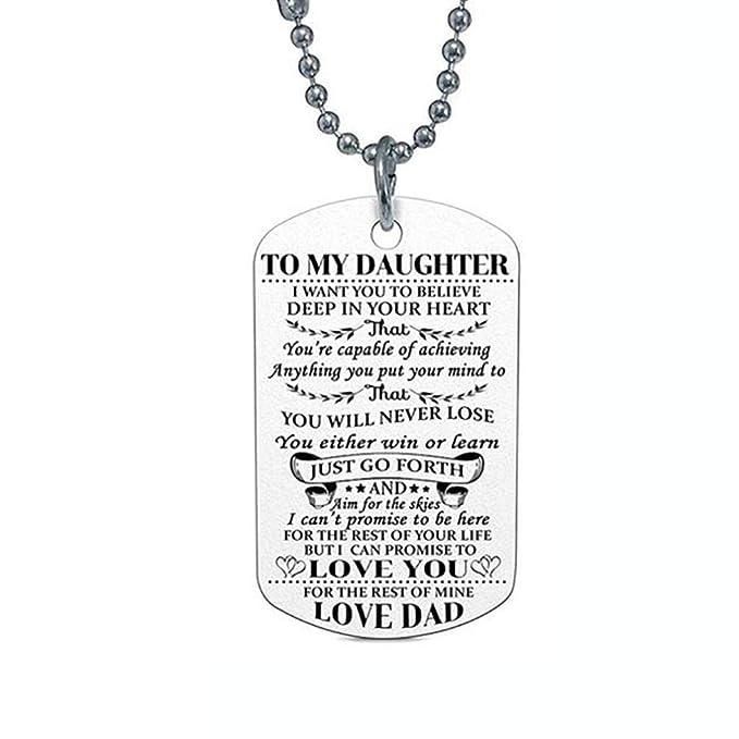TINGSU - Collar con letras de estilo retro, diseño de hip-hop (A): Amazon.es: Belleza