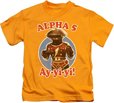 Mighty Morphin Power Rangers Alpha 5 Chicos Camisa Gold MD (5 ...