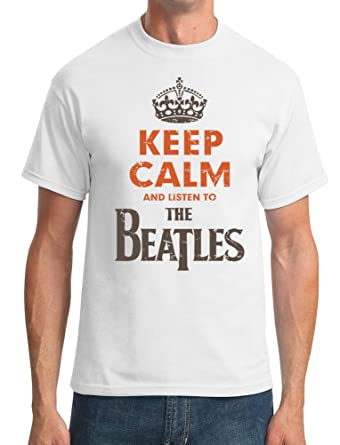 keep calm and listen to the beatles t shirt