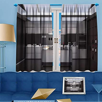 Amazon.com: PRUNUS Blackout Curtain Modern Interior with sm ...