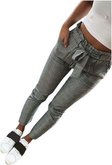 Amazon Com Dontal Pantalones De Trabajo Para Mujer Con Cordones Con Bolsillos Laterales Sueltos Rectos Clothing