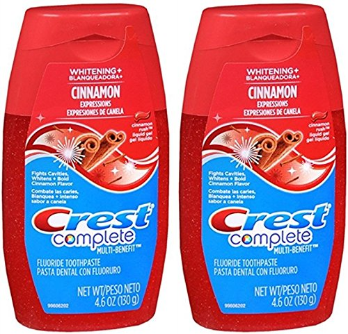 Crest Whitening Expressions Toothpaste Liquid Gel Cinnamon Rush 4.60 oz (Pack of 2) ()
