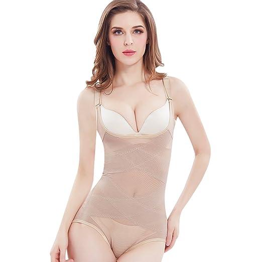 4a62368f3 GZXISI Women Seamless Firm Control Shapewear Open Bust Bodysuit Body Shaper  Waist Cincher Corset (X
