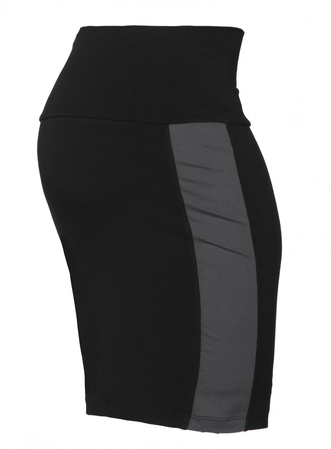 Happy Mama Women's Maternity Colour Block Pencil Skirt Overbump Panel. 554p pregskirt_554