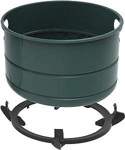 Air Fryer Lid Replacement Basket Compatible to Instant Pot 6Qt, Enamel Coated Non-Stick Air Fryer Basket (Grey)