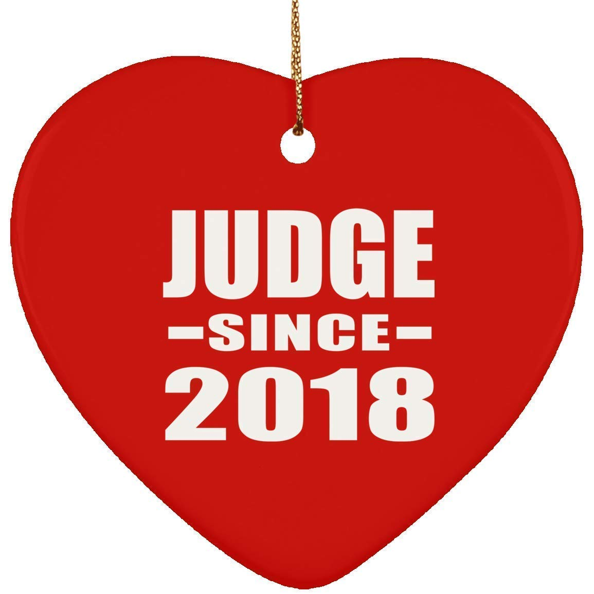 Amazoncom Iliogine Judge Since 2018 Ceramic Heart Ornament