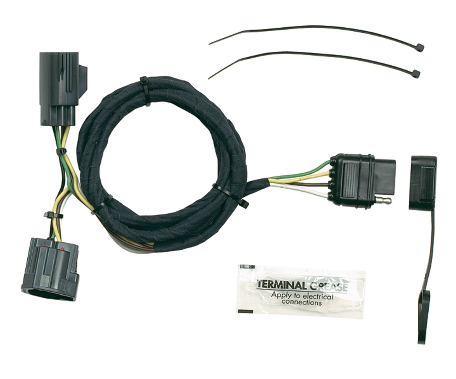 61%2Brvtu3zqL._SL1500_ amazon com hopkins 42635 plug in simple vehicle to trailer wiring 5 Wire Trailer Harness Diagram at crackthecode.co