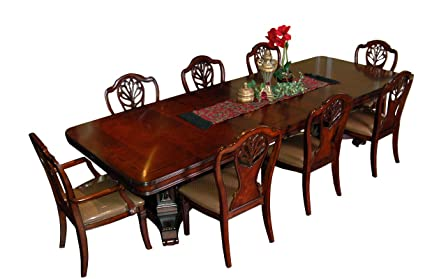 Amazon.com - Heritage Mahogany 9 Piece Victorian Dining Room Set ...