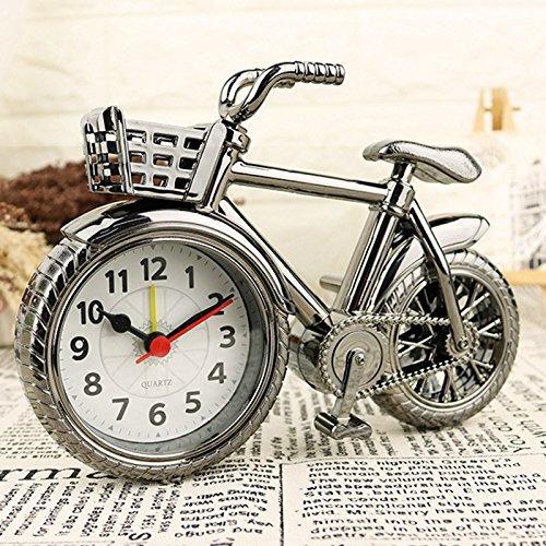 Shuangklei Despertador Vintage Bicicleta Con Cesta Mesa Quartz ...