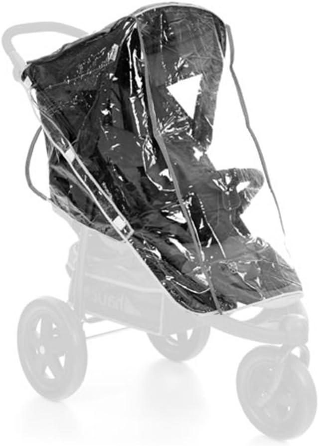 Hauck, Protector de lluvia universal para carritos de 3 ruedas, shopper y sillas de paseo, resistente al agua y duraderos, color transparente