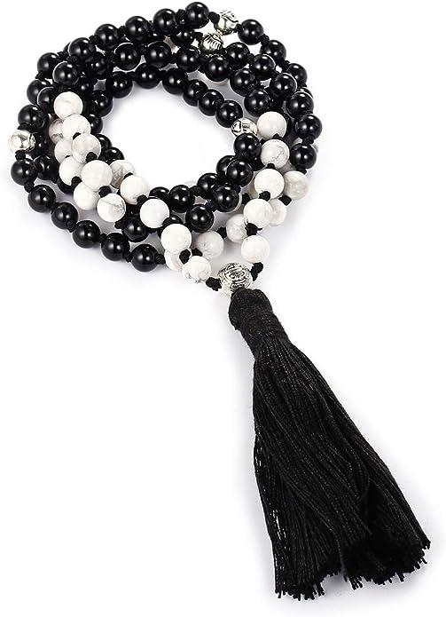 Yoga Jewelry Beaded Bracelets Tibetan Wrist Mala Meditation Bracelet Prayer Bead Bracelet Turquoise Mala Bracelet LYS