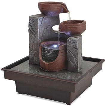 Zimmerbrunnen Zimmerspringbrunnen Springbrunnen Brunnen Pumpe LED Wasserspiel