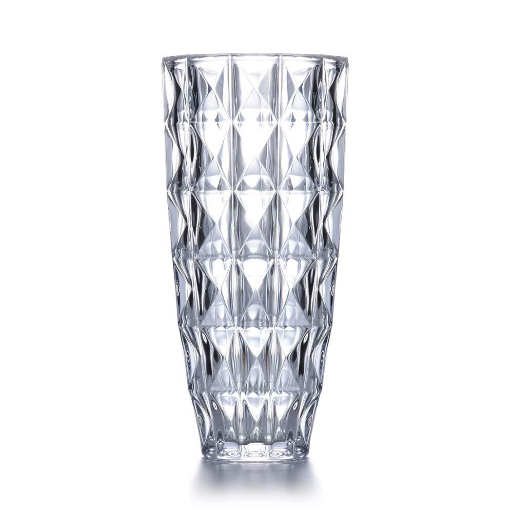 "CDM product JASVIC Vase, 11"", Fashion Vases Lead-Free Crystal Glass Vase, Flower Inserted European Transparent Vases for Decor, Living Room;Dining Table Decoration big image"
