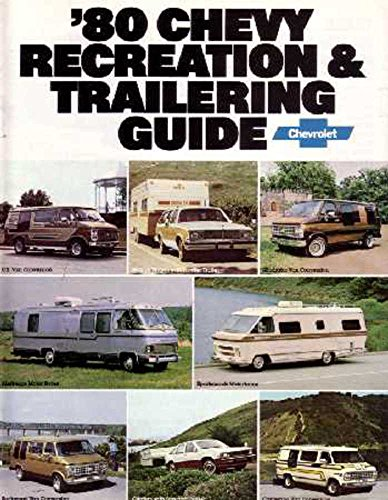 1980 Chevrolet Recreational Towing Guide Brochure Literature Book Brochure Manual Guide