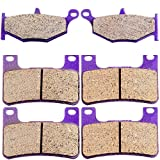 Kevlar Carbon Fiber Brake Pads ECCPP Motorcycle Replacement Front and Rear Braking Pads Kits Set for 2006-2010 Suzuki GSXR GSX-R 750 K6 K7 K8 K9