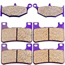 ECCPP Front and Rear Kevlar Carbon Brake Pads Fits 2006 2007 2008 2009 2010 Suzuki GSXR GSX-R 750
