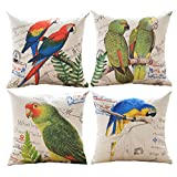Decorative Pillow Cover - Sykting Pillow Covers for Throw Pillows Set of 4 Home Sofa Decorative 18 x 18 Cotton Linen